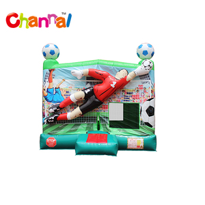 Commercial cheap Football inflatable bouncy jumping castle bouncer for sale