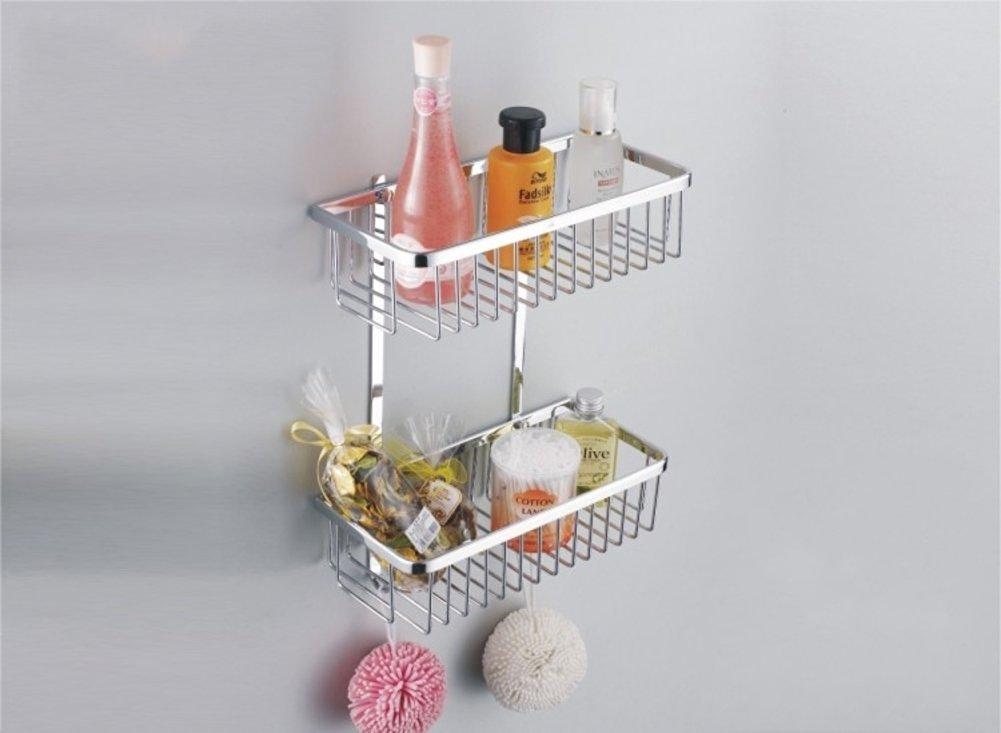 Copper bathroom storage baskets/Bathroom racks/Bathroom double rectangular baskets-B