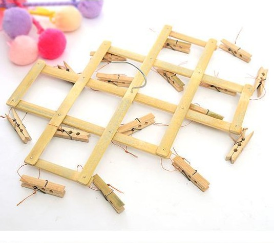 Bamboo racks folder 22 16 bamboo wooden clothespin ...