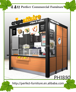Shenzhen Perfect Retail Outdoor Food Booth Crepe Waffle