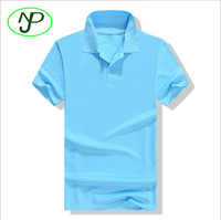Men's Wholesale 100% Polyester Short Sleeves Turn Down Collar Polo Shirt