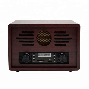 multi functions factory supply 2019 hot sale portable blue tooth antique radio with USB SD play& recording