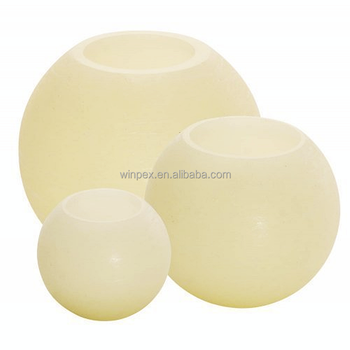 ball candles. centerpiece decorative real wax led sphere candles round ball
