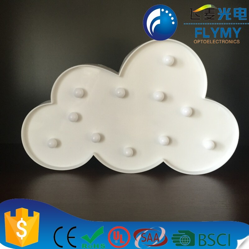 New product LED Cloud Warm plastic Marquee hanging symbol for home decor