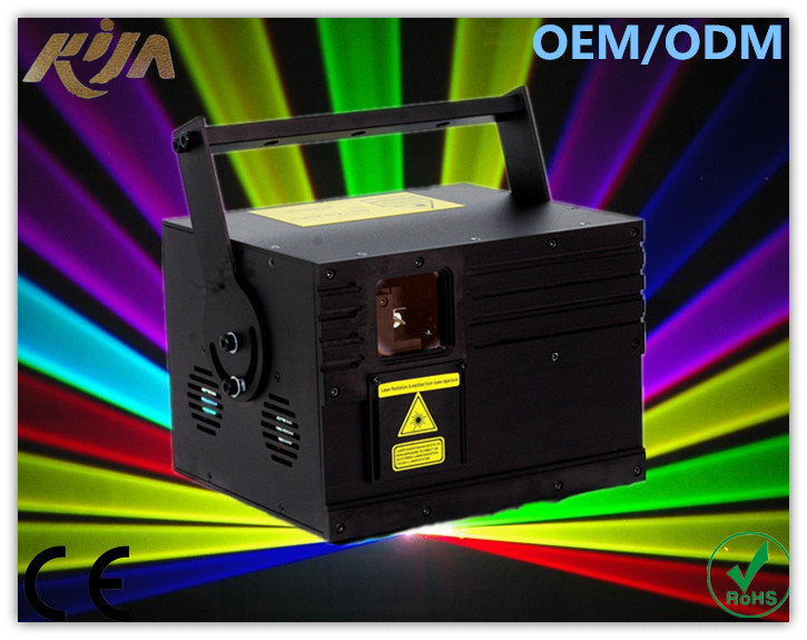 High Quality And Hot Sale 3000mw Rgb Animation ILDA Laser Light Effects With Dmx512 Control