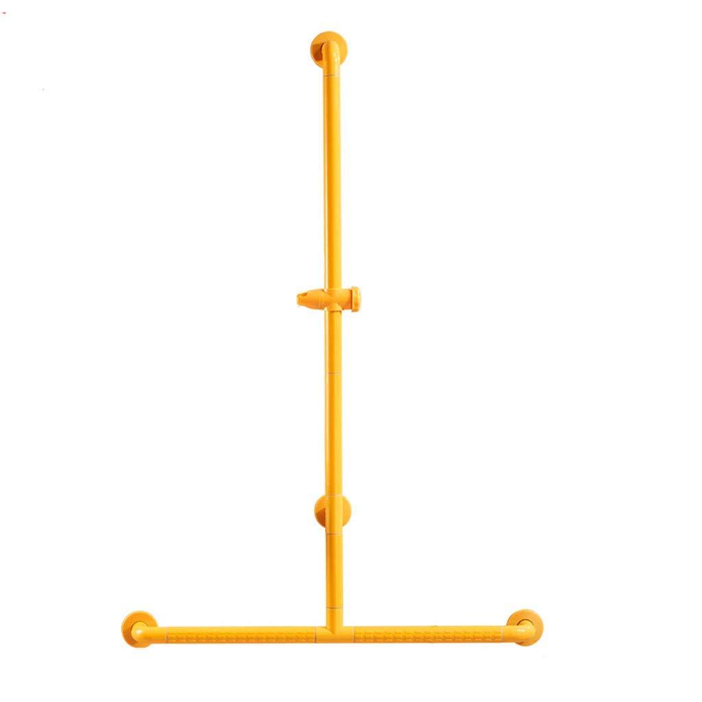Li Wei Shop Shower handrail Bathroom handrail Non-Slip handrail Barrier-Free Shower Room Handle Anti-Skid Anti-Pressure Shower Stand Toilet Luminous Railing (Color : Yellow, Size : 80120cm)