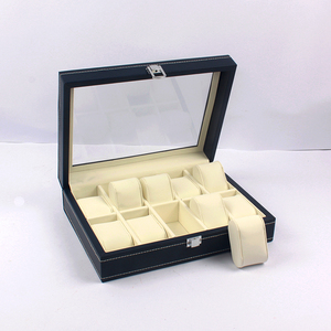 OEM Man Leather Cover Plastic Display Gift Watch Box Packaging