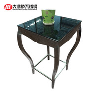 Side table stainless steel furniture end table Square Table