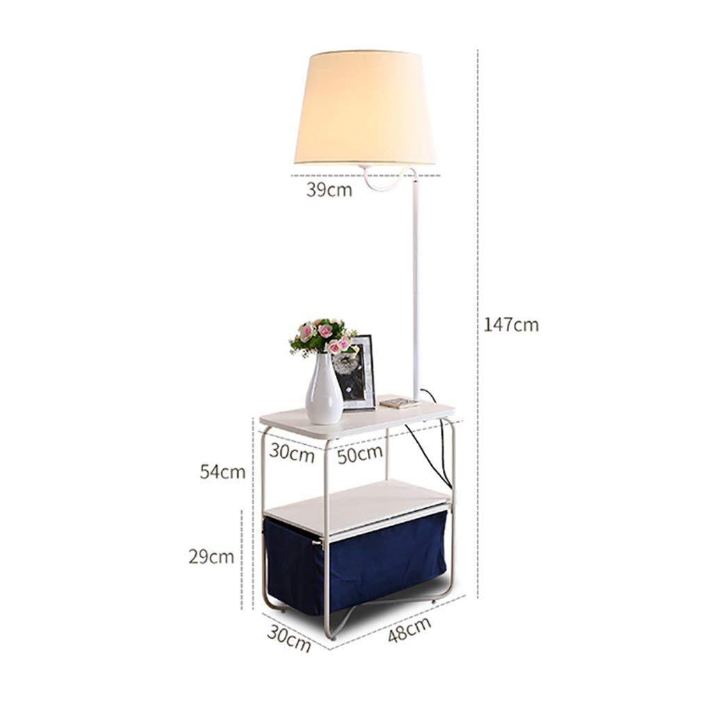 QYJZI Floor Lamps Floor lamp, living room sofa coffee table floor lamp, bedroom nightstand vertical table lamp, simple creative charging rack floor lamp (Size : 3048147cm)