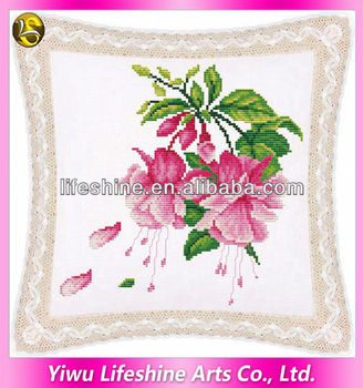 pillow cover embroidery designdiy cross stitch cover kits