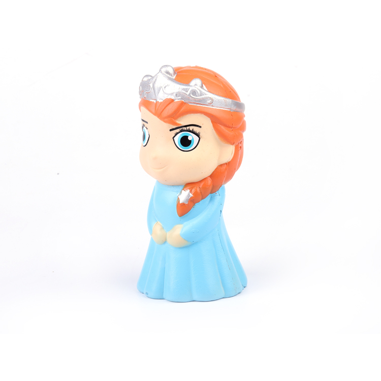 Amazon New Hot Best Products Human Character Golden Hair Beauty Snow Queen Stress Ball