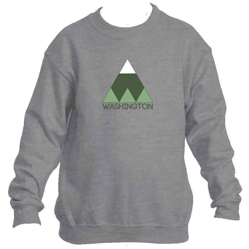 Minimal Mountain - Washington Youth Fleece Crew Sweatshirt - Unisex