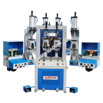 Sport shoe making machine shoe upper backpart moulding machine