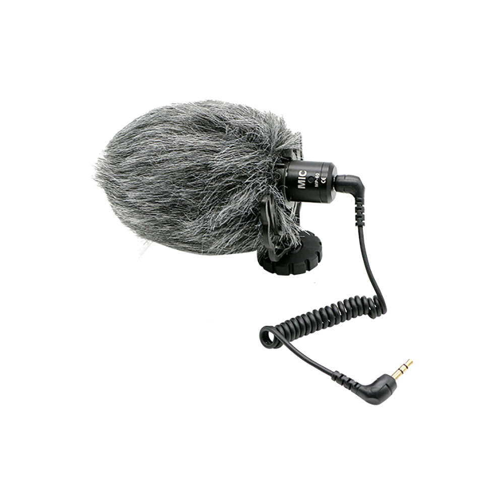 Video camera external mic Use for Sony Nikon Canon camera cardioid condenser microphone MP-60 Compact on-camera