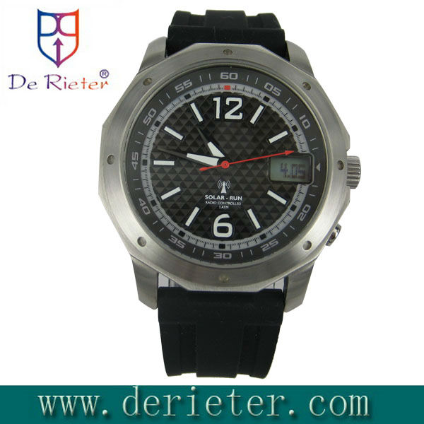 RCC Radio Controlled Watch DCF77/MSF/JJY/WWVB