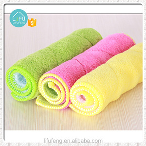polishing dish washing pad cloth cleaning microfiber towel