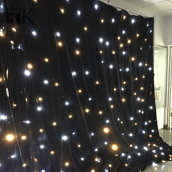 Star Curtain Wall Led Fabric Decorations Lighted Stage Backdrop