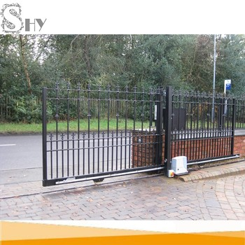 Wrought iron main entry manual sliding gate design buy - Sliding main gate design for home ...