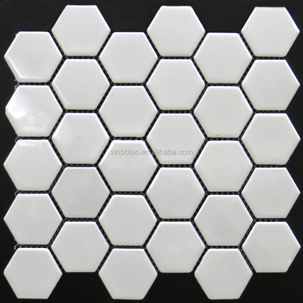 Des Inventaires Réguliers Blanc Couleur Grand Hexagonale Céramique - Carrelage hexagonal blanc