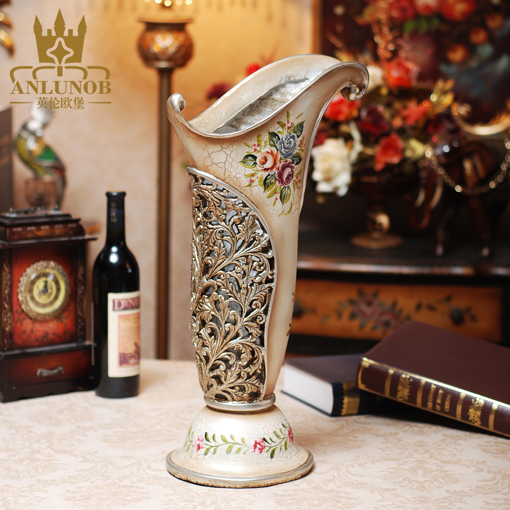 Anlunob Luxury Antique Chinese Vase Wholesale Resin Tall Flower Vase