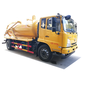 Wheelbase septic pump truck septic tank design 8000-10000l sewage suction  truck for Christmas