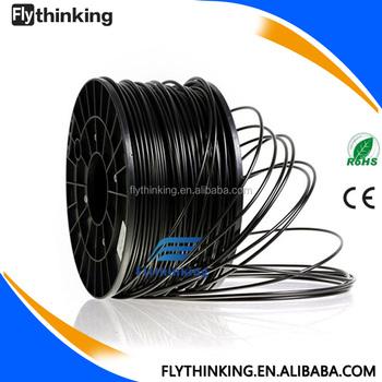 Black Color 3mm Pla Abs Filament For 3d Printer,Abs Plastic Rod ...