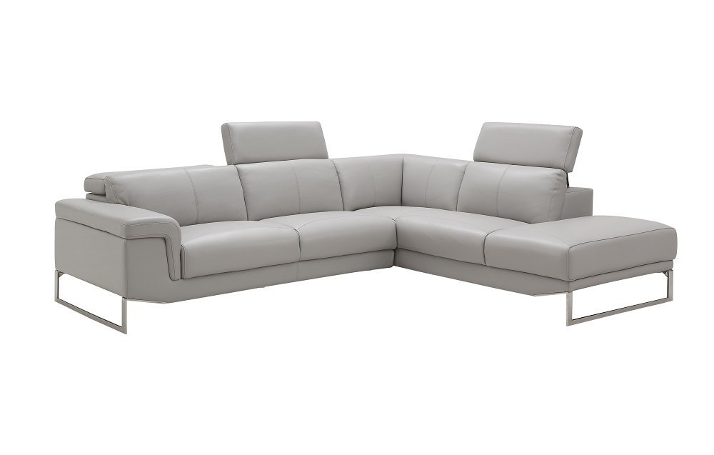 J and M Furniture 17527-RHFC Athena RHF Chaise Premium Leather Sectional