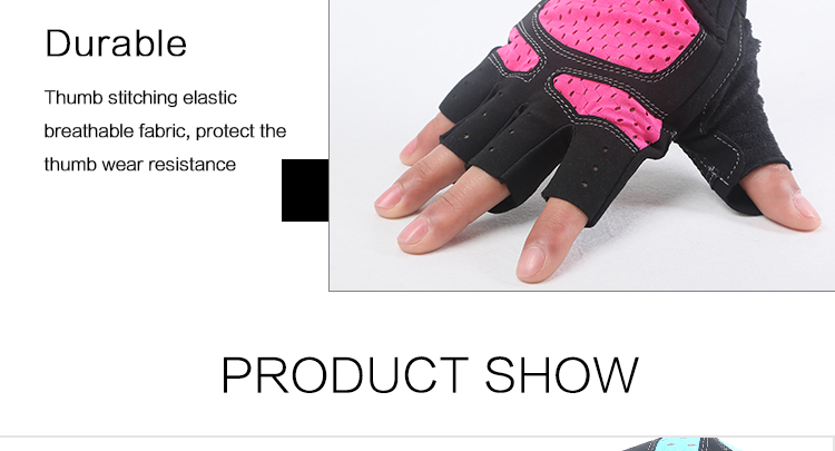 Customized Half Finger Sport Workout Fitness Gloves Weight Lifting Gym Gloves