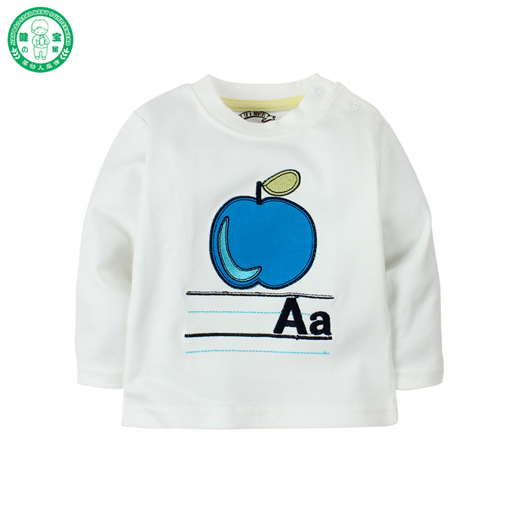 Wholesale 2017 spring full sleeve cute baby T-shirt children clothing