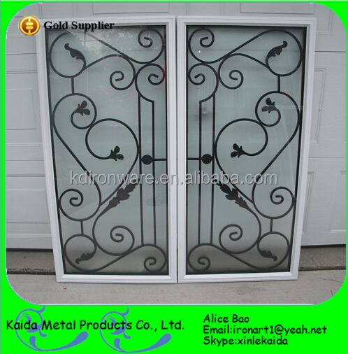 Modern French Sliding Window Steel Window Grill Design