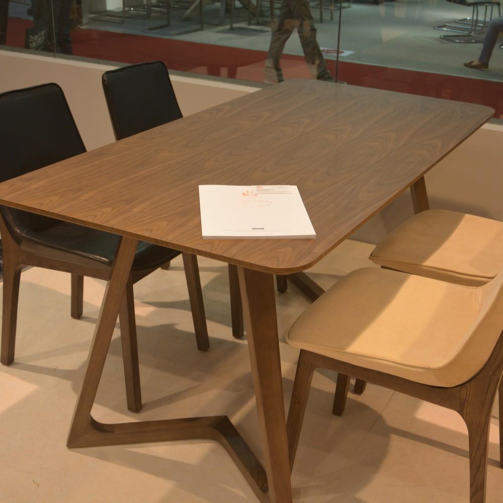 Fabriek prijs moderne ontwerp eetkamer geen vouwen houten eettafel ...