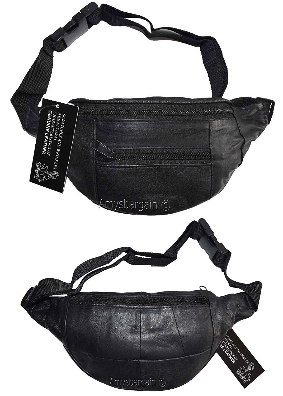 53fc16c623d Get Quotations · Lot of 2 Waist Pouch Leather Mini Waist Bag Small Waist  Pouch Leather Fanny Pack
