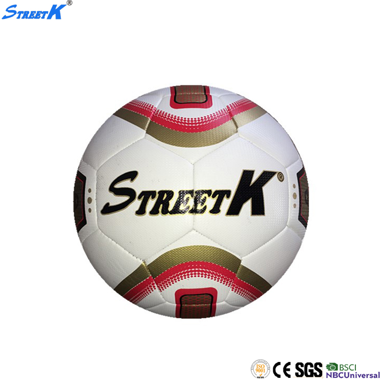 Streetk Brand PU leather soccer ball wholesale real leather antique leather soccer ball