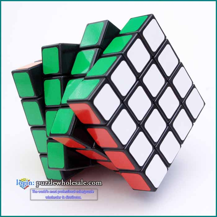 Wholesale Lanlan Sticker 4x4x4 Speed Cube Puzzle Magic Black 4x4 Twist Puzzle Learning&Educational Toys