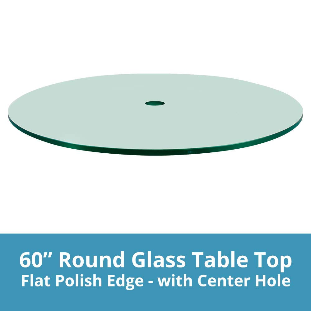 Get Quotations Troysys Round Gl Table Top 1 4 Inch Thick Flat Polish Edge