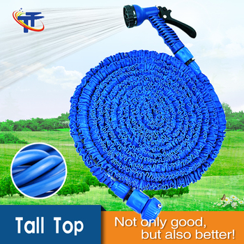hot selling magic hose 50ft blue water rubber hose with double latex flexible garden hose tall - Flexible Garden Hose