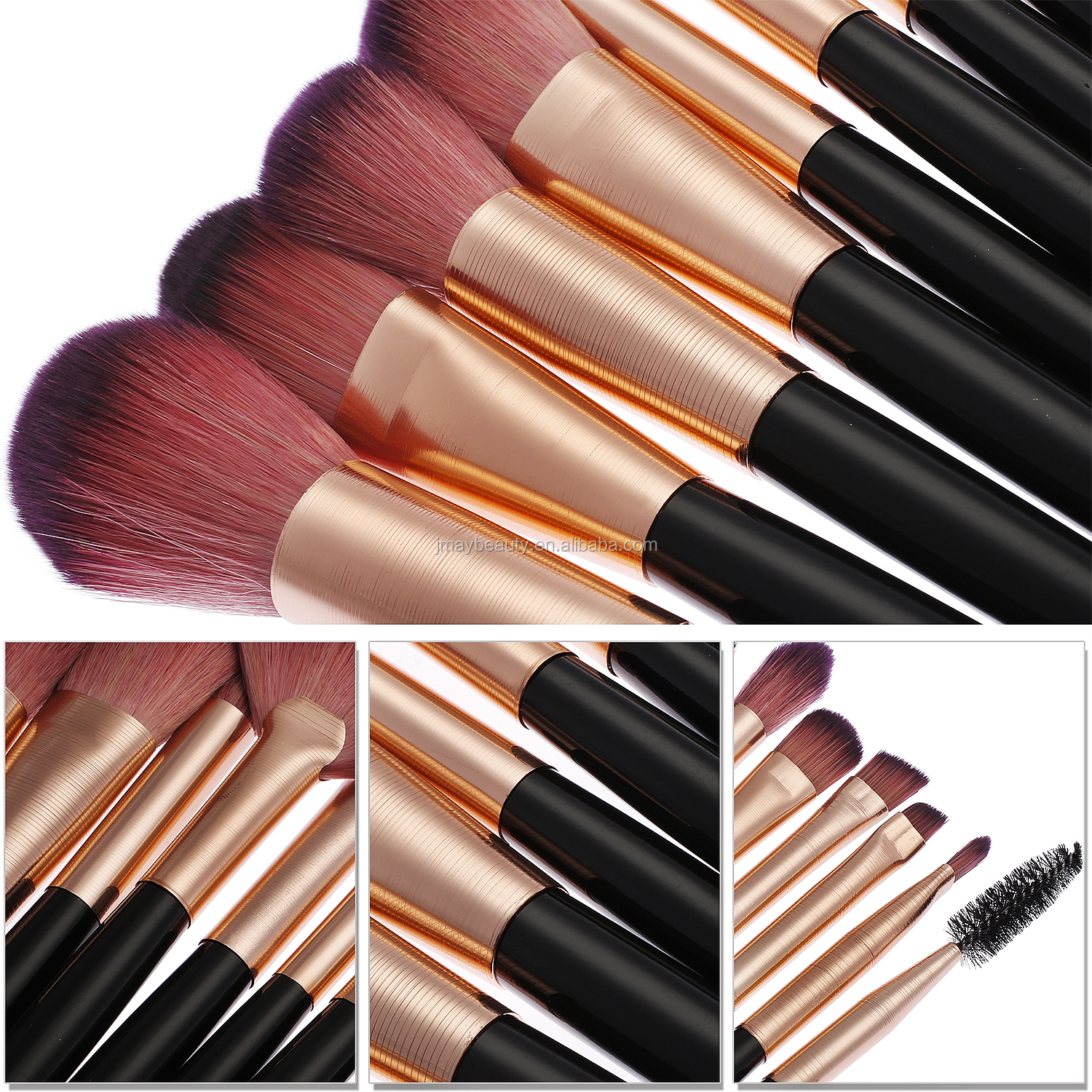 988cf16eec45 Luxury High End Makeup Brush Set Rose Gold Your Logo Professional Makeup  Kits Synthetic Hair Makeup Blush Brush Oem Custom 14pcs - Buy Rose Gold ...