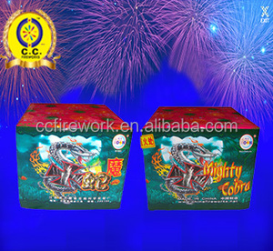 cheap 25s Mighty Cobra wholesale Small Cakes fireworks exporters