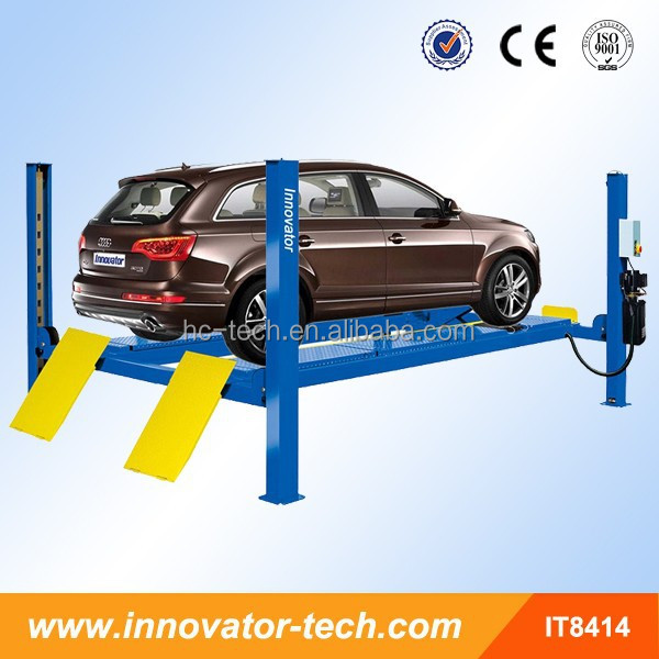 4T capacity garage equipment for trucks for vehicle lifting with wheel alignment function