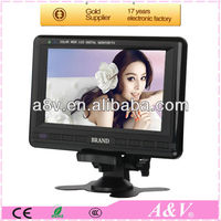7.5 inch potable small LED tv TFT lcd screen with stereo speaker usb/sd reader and TV tuner
