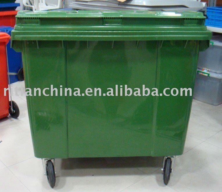 1100ltr ext rieur grande plastique poubelle avec p dale for Poubelle plastique exterieur