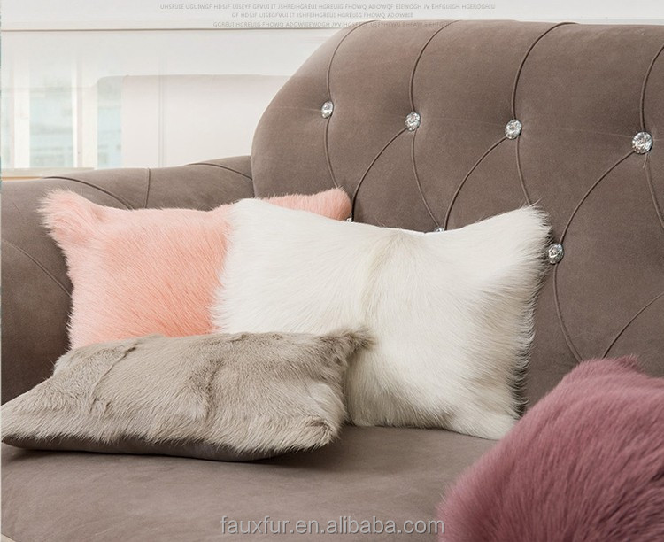 Long And Short Pile Faux Fur Fabric For Chair Cushion Covers And Hanging Chair Replacement Cushion