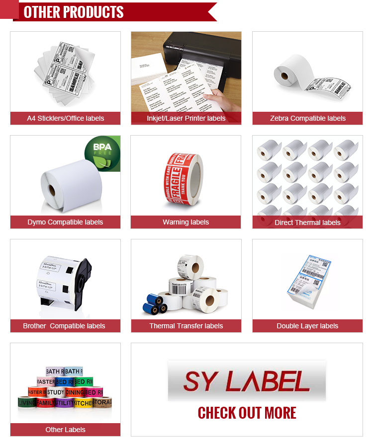 Promotional print mail sticky ups printable shipping labels