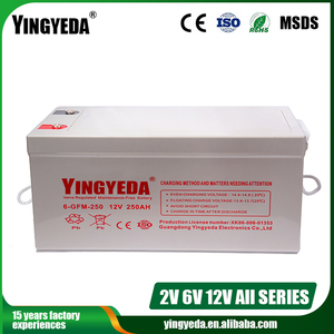 Guangzhou solar battery 12v 250ah for battery power bank