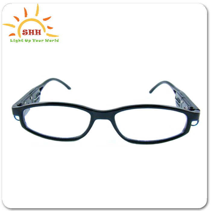 LED flashing reading glasses with LED light for parents or elders glasses for old man