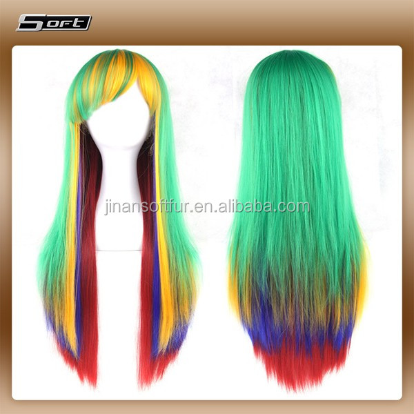 Newest selling attractive style Synthetic Cute Cosplay Afro Wig with different size