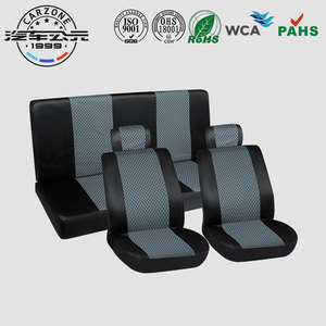 Universal 9pcs polyester elegant car seat cover Universal Full Set Black and Grey Low Price Car Seat Cover For Buses