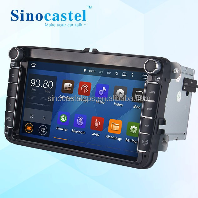 1024x600 HD Screen Single Din Android Car Dvd Player with CANBUS GPS Bluetooth for universal vw new cars