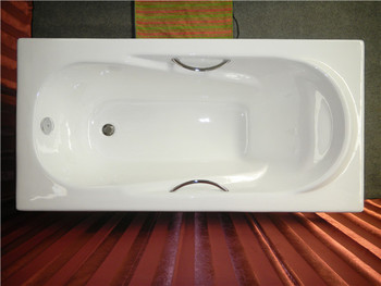 Awesome Simple Enamel Cast Iron Build In Bathtub With Armrest