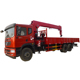 New condition telescopic boom truck mounted crane used for lorry